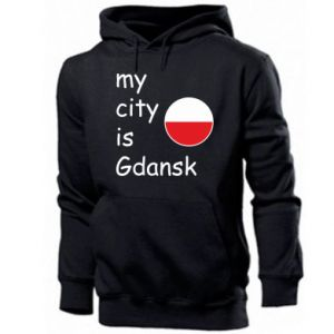Męska bluza z kapturem My city is Gdansk