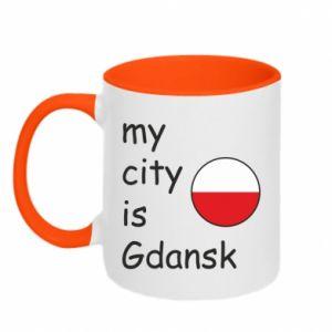 Kubek dwukolorowy My city is Gdansk