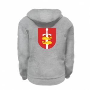 Kid's zipped hoodie % print% Gdynia coat of arms