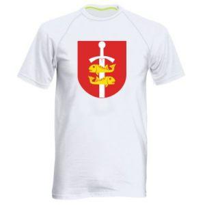 Men's sports t-shirt Gdynia coat of arms