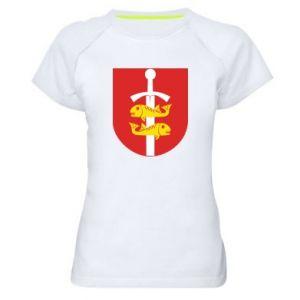 Women's sports t-shirt Gdynia coat of arms