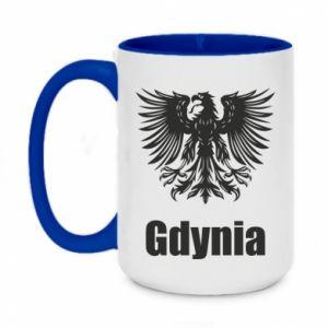 Two-toned mug 450ml Gdynia