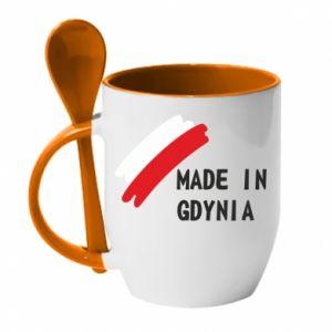 Kubek z ceramiczną łyżeczką Made in Gdynia - PrintSalon