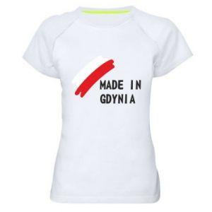 Damska koszulka sportowa Made in Gdynia