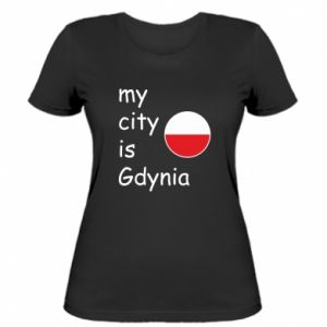 Damska koszulka My city is Gdynia