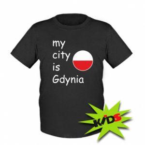 Dziecięcy T-shirt My city is Gdynia