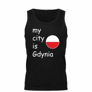 Męska koszulka My city is Gdynia