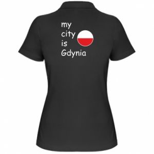 Women's Polo shirt My city is Gdynia