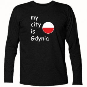 Koszulka z długim rękawem My city is Gdynia