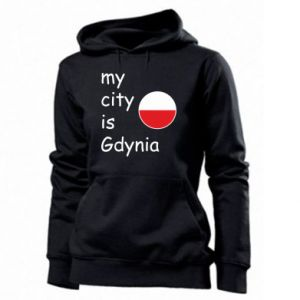 Women's hoodies My city is Gdynia