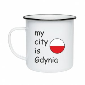 Kubek emaliowane My city is Gdynia - PrintSalon