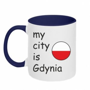 Kubek dwukolorowy My city is Gdynia - PrintSalon