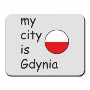 Mouse pad My city is Gdynia