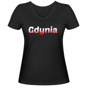 Damska koszulka V-neck Gdynia