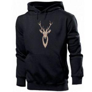Men's hoodie Gentle deer - PrintSalon