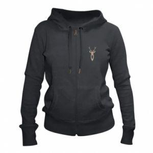 Women's zip up hoodies Gentle deer - PrintSalon