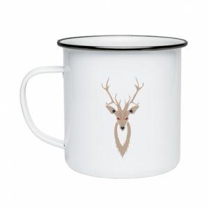 Enameled mug Gentle deer - PrintSalon