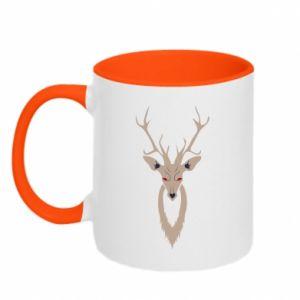 Two-toned mug Gentle deer - PrintSalon