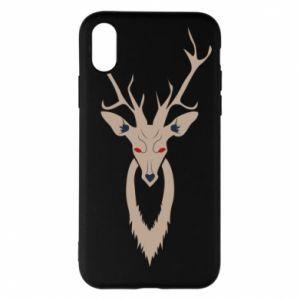 Phone case for iPhone X/Xs Gentle deer - PrintSalon