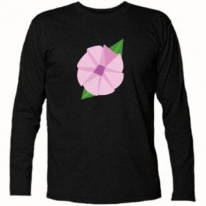 Long Sleeve T-shirt Gentle flower abstraction - PrintSalon