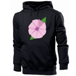 Men's hoodie Gentle flower abstraction - PrintSalon