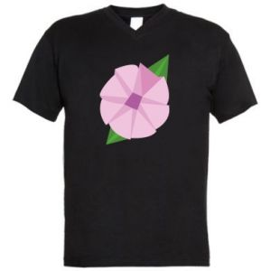 Men's V-neck t-shirt Gentle flower abstraction - PrintSalon