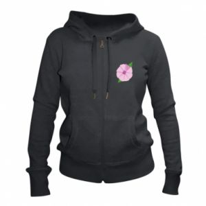 Women's zip up hoodies Gentle flower abstraction - PrintSalon