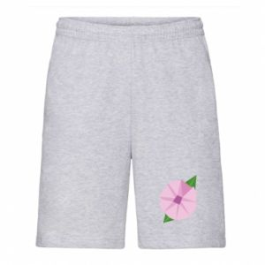 Men's shorts Gentle flower abstraction - PrintSalon