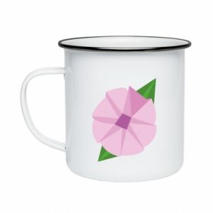Enameled mug Gentle flower abstraction - PrintSalon