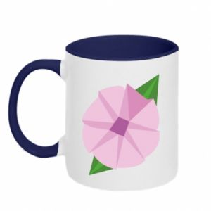 Two-toned mug Gentle flower abstraction - PrintSalon