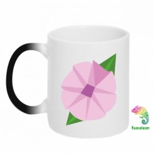 Chameleon mugs Gentle flower abstraction - PrintSalon