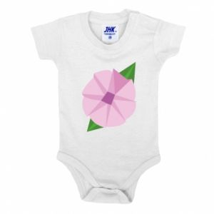 Baby bodysuit Gentle flower abstraction - PrintSalon