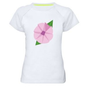 Women's sports t-shirt Gentle flower abstraction - PrintSalon