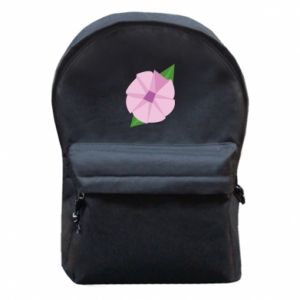 Backpack with front pocket Gentle flower abstraction - PrintSalon