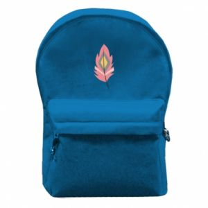 Backpack with front pocket Gentle pink feather