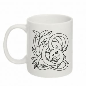 Mug 330ml Gentle snake contour - PrintSalon