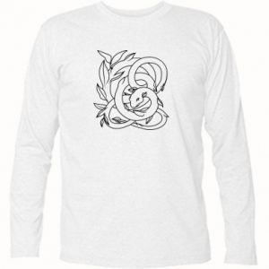 Long Sleeve T-shirt Gentle snake contour - PrintSalon
