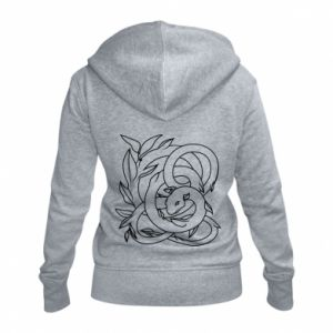 Women's zip up hoodies Gentle snake contour - PrintSalon