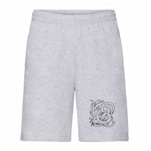 Men's shorts Gentle snake contour - PrintSalon