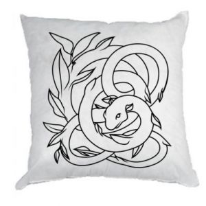 Pillow Gentle snake contour - PrintSalon