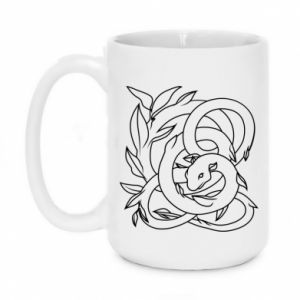Mug 450ml Gentle snake contour - PrintSalon