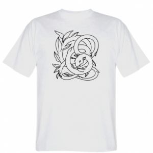 T-shirt Gentle snake contour