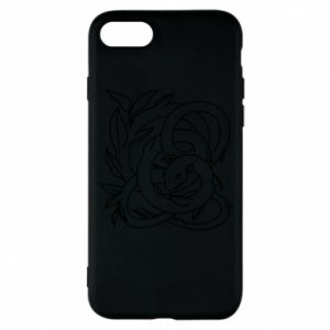 Phone case for iPhone 8 Gentle snake contour
