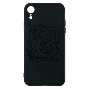 Phone case for iPhone XR Gentle snake contour
