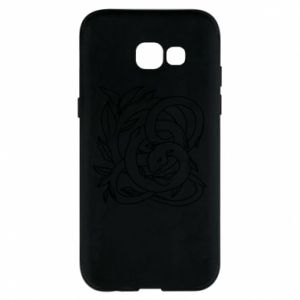 Phone case for Samsung A5 2017 Gentle snake contour