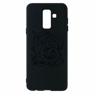 Phone case for Samsung A6+ 2018 Gentle snake contour