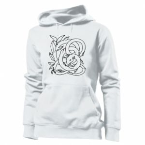 Women's hoodies Gentle snake contour - PrintSalon