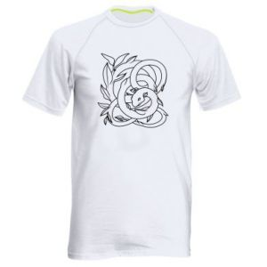Men's sports t-shirt Gentle snake contour - PrintSalon
