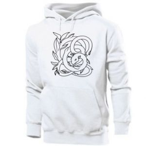 Men's hoodie Gentle snake contour