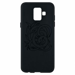Phone case for Samsung A6 2018 Gentle snake contour